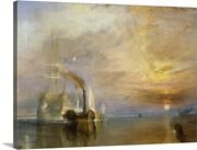 The Fighting Temeraire Tugged To Her Canvas Wall Art Print Ships And Boats Home
