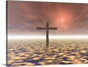 The Mystery Of The Cross Canvas Wall Art Print, Christianity Home Decor