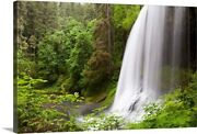 North Middle Falls In Silver Falls State Canvas Wall Art Print Countryside Home