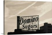 Low Angle View Of Domino Sugar Sign Canvas Wall Art Print Baltimore Home Decor