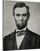 Abraham Lincoln, Head And Shoulders Canvas Wall Art Print, Photography Home