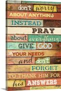 Donand039t Worry Canvas Wall Art Print Religious Home Decor