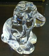 Orrefors   Puppy Dog Figurine ✪new✪ Crystal Glass Paperweight Rare Clear Sweden