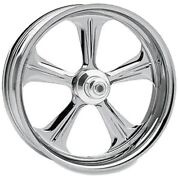 P.m. Front Forged Wheel Dual Disc 21x3.5 Chrome Wrath And03914-15 Harley Fl Non-abs