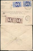 French Congo Ww2 British Censor + Airmail Boxed + Controle Cachet Cancels Stamp
