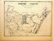 Old Nueces County Texas Land Office Owner Map Corpus Christi Kingsville Bishop
