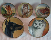 Set Of 5 Veneto Flair Plate Collection With Original Certificate By V. Tiziano