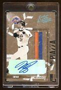 2004 Leather And Lumber Mike Piazza 1/1 Autograph Masterpiece True 1/1 Auto Mets