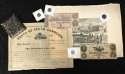 Estate Lot Of Civil War Coins Currency And Exonumia