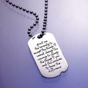 Sterling Silver Serenity Prayer Dog Tag Necklace |made In The Usa |free Shipping