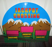 American Alpha Jackpot Crossing Redemption Game Cabinet Marquee Backglass Guc