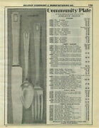 1932 Paper Ad Community Plate Flatware Silverware Noblesse Deauville Pattern For