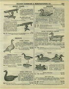 1932 Paper Ad Duck Hunting Decoys Automatic Canvas Cedar Wood Carved Glass Eyes