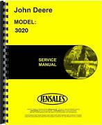 John Deere 3020 Tractor Service Manual Sn 123,000 And Up Jd-s-tm1005