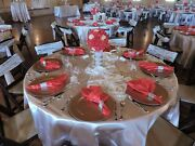 All Inclusive Wedding Decorations- Red Gold Ivory Some Canary Highlights