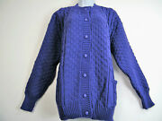 Button Up 100 Acrylic Knitted Cardigan With Front Pockets 11 Cols To Fit 14-20