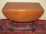 Antique Kittinger William And Mary Style Oak Drop Leaf Butterfly Table