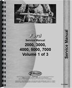 Ford 2000 3000 4000 5000 Series Tractor Service Manual Fo-s-2000