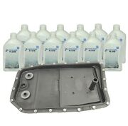 Oem Zf Transmission Oil Pan Filter Kit And 12-literand039s Zf Lifeguard 6 Trans Fluid