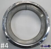 And03968-and03974 Nos Corvette Trim Rings Chrome 15 X 3-1/4 Single Only 3923626