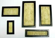 Five 5 Antique Early Christian And Roman Bas-relief Miniature Sculptures