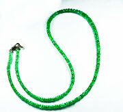 37.17 Ctw New Look Fancy Collection Emerald Beads Necklace With Video