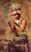 Oil painting Grace Carpenter Hudson - The Seed Conjurer Male Figure And Flute 36