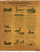 1915 Paper Ad Kankakee Wood Duck Decoy Folding Paper Illinois River