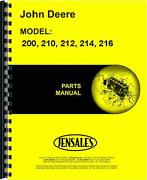 John Deere 200 210 212 214 216 Lawn And Garden Tractor Parts Manual Jd-p-pc1473