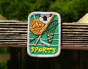 Sports Boy Scout Embroidered Patch 2 3/4 X 2 Soccer Hockey Baseball Basketball
