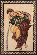 Oriental Gown Lady Vase Water Pot Marble Mosaic Fg1004