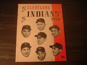1954 Cleveland Indians Sketch Book / Year Book Yearbook Multi Face Cover