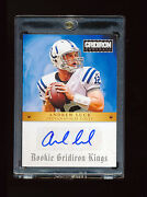 1/1 Andrew Luck 2012 Panini Gridiron Kings Colts Auto Jersey Number Rc D 12/99