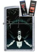 Zippo 7216 Gothic Demon Lighter With Flint And Wick Gift Set