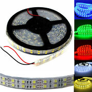Lot 10x Dual Roll 5m 600led 5050 Led Strip Light Red Green Blue White Waterproof