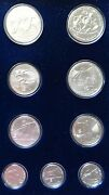Greece 9 Silver Coin Set 1982 Olympic Games Unc Mint Rare Nr