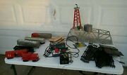 Vintage Mar Metal Train Bridge With Train And Accessories Toys