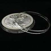 100 Airtite Coin Capsule Holders With White Ring For American Silver Eagle, 40mm