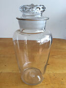 Antique Free Blown Glass Apothecary Candy Jar Pontil