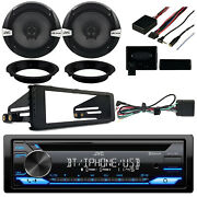 Cd Receiver 2x 6.5 Speakers + Adapters Handlebar Control Stereo Install Kit