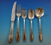Old Mirror By Towle Sterling Silver Flatware Service Set 30 Pieces