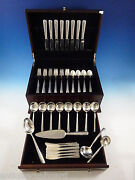 Rambler Rose By Towle Sterling Silver Flatware Set For 8 Service 52 Pieces