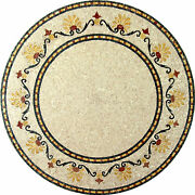 Round Medallion Majestic Band Frame Home Decor Marble Mosaic Md599