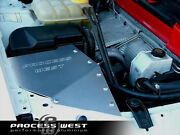 Process West 4in To 4in Race Air Box Complete With Kandn Filter For Ford Ba/bf