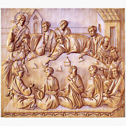 32 Last Supper 3d Art Orthodox Wood Carved Religious Icon - Large Jesus
