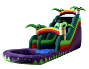 35x20x25 Commercial Inflatable Water Slide Bounce House Obstacle Course Combo