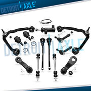 13pc Front Upper Control Arms Ball Joint Tie Rod Kit For Chevy Tahoe Gmc Sierra