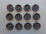 Set Of 12 Keeler Brass Two Part Round Back And Bail Pulls Windover Antique Finish