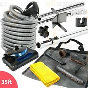 Beam Nutone Kenmore 35' Electric Central Vacuum Powerhead, Hose Cleaning Kit-new