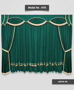 Saaria Stylish And Decorative Home Theater Stage Velvet Curtains 14'w X 8'h Ht-5